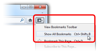 Bookmarks Button win