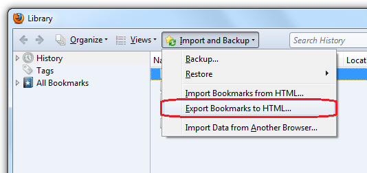 Export bookmarks to Internet Explorer | How to | Mozilla Support