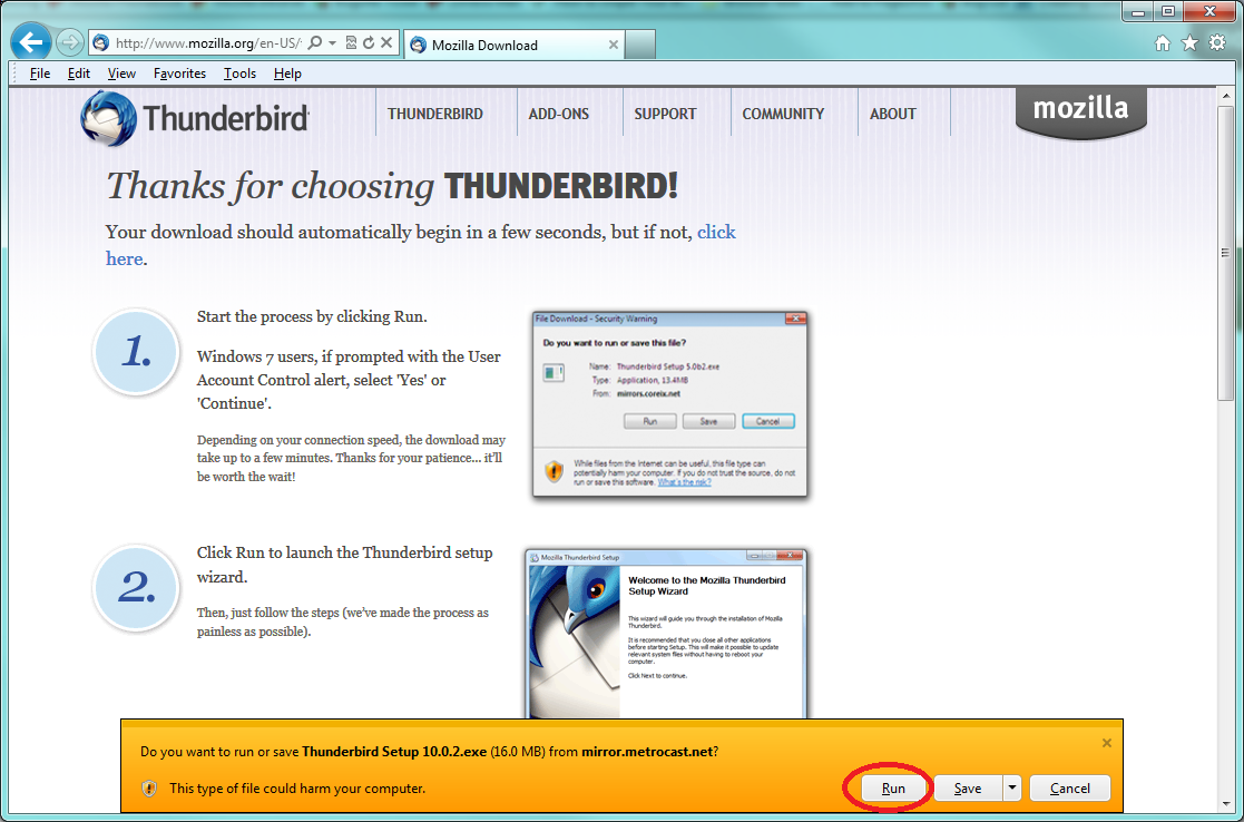 Installing Thunderbird on Windows | How to | Mozilla Support