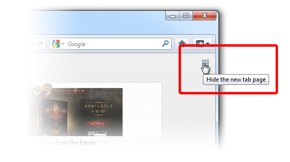 Hide New Tab - Win