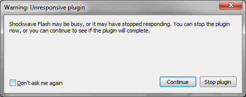 Warning Unresponsive plugin - What it means and how to fix it