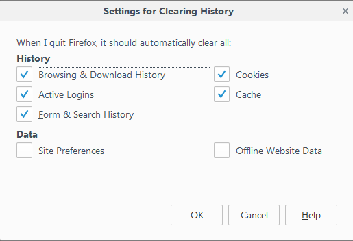 Fx44ClearHistoryWhenFirefoxCloses-Settings