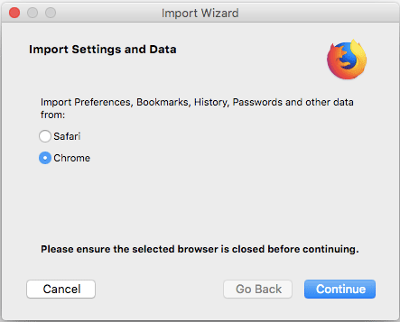 Import data from another browser | Firefox Help