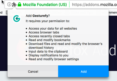 Permission request messages for Firefox extensions | How to