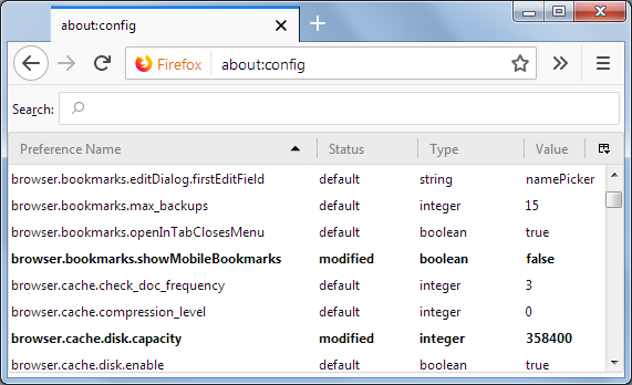 Configuration Editor for Firefox | How to | Mozilla Support