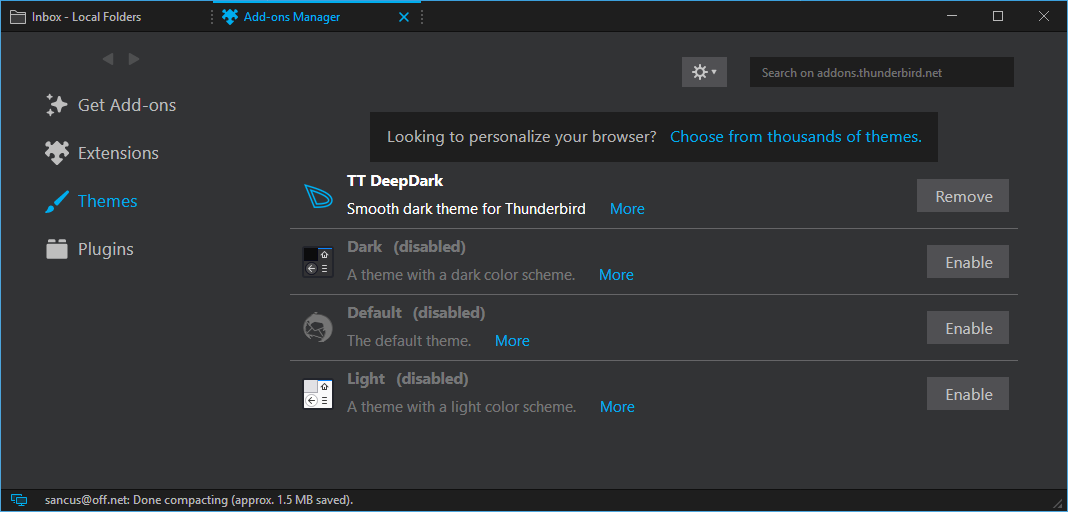 Install themes to change the look of Thunderbird | How to | Mozilla