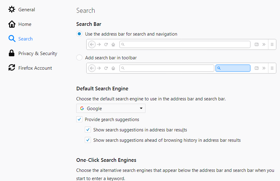 Change your default search settings in Firefox | How to