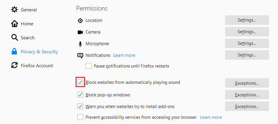 Allow or block media autoplay in Firefox | How to | Mozilla Support
