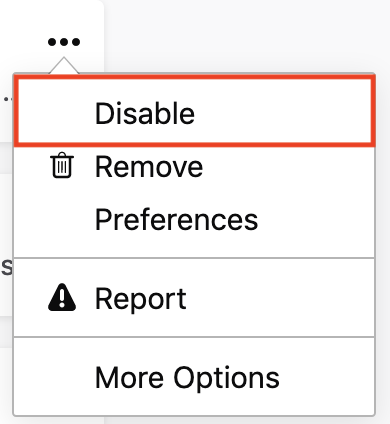 Disable or remove Add-ons | How to | Mozilla Support