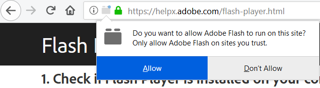 Firefox 69 Plugin Activation Choices - Flash