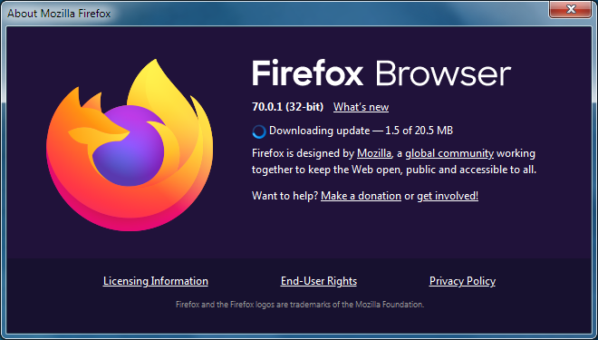 Update Firefox To The Latest Release Firefox Help