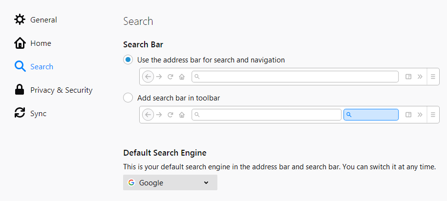 Change Your Default Search Settings In Firefox Firefox Help