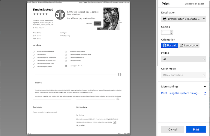 How To Print Web Pages In Firefox Firefox Help