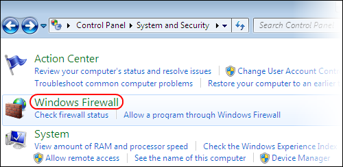 Configure Windows Firewall to allow Firefox access to the Internet