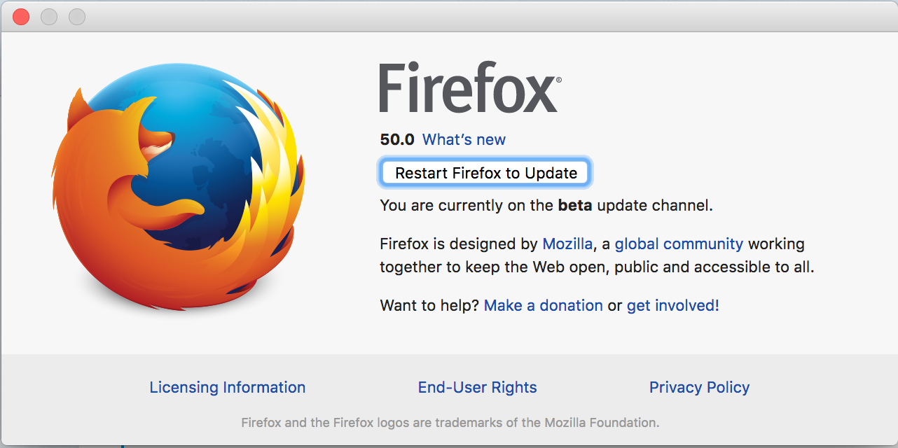 Problems after updating mozilla firefox
