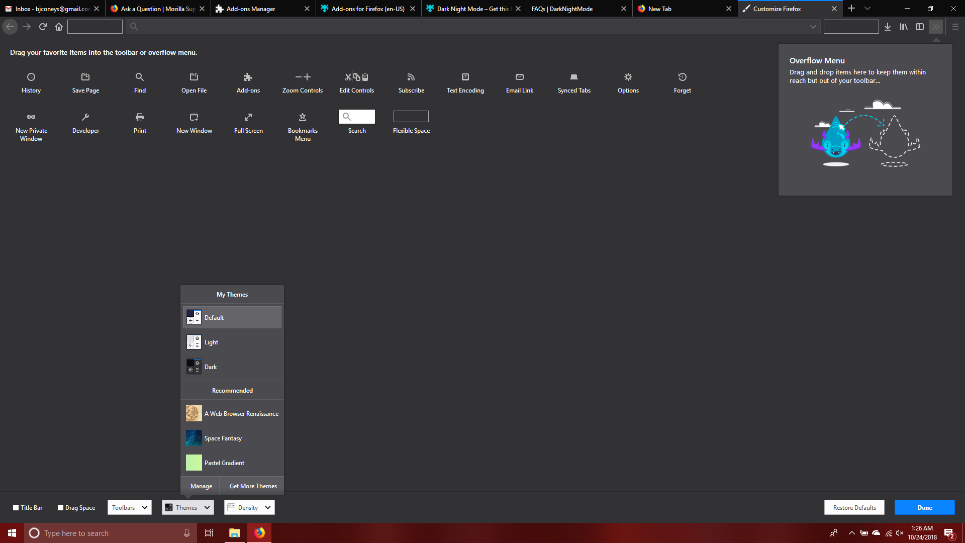 Default Theme Refuses To Load Properly And Looks Like The Dark